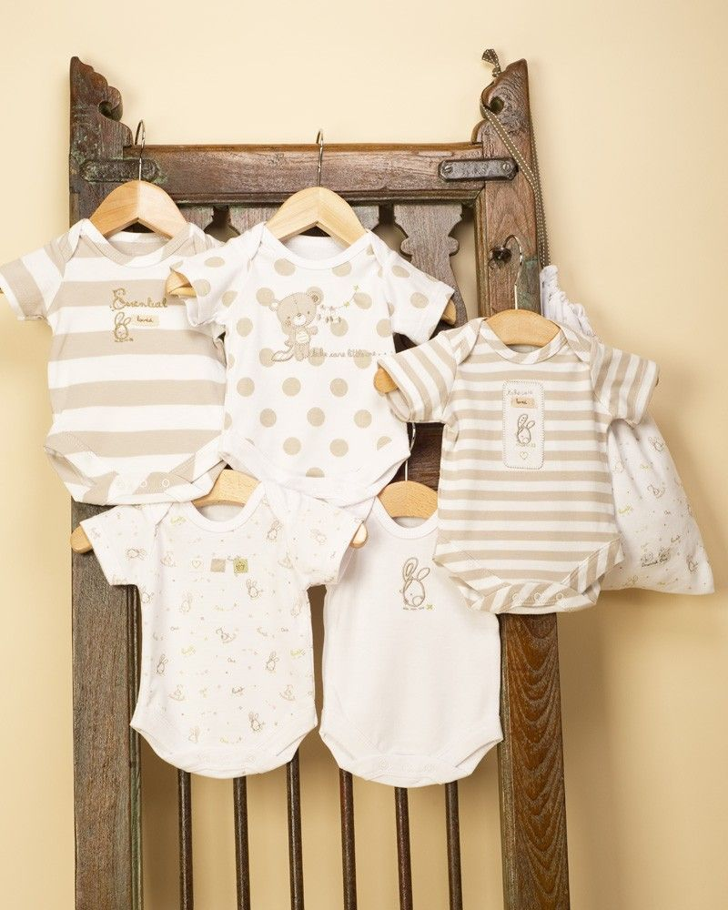 Pack of 5 Care Unisex Baby Bodysuit
