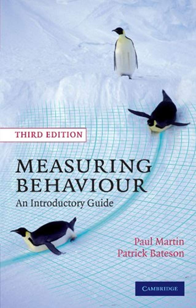 Read now Measuring Behaviour: An Introductory Guide book ...