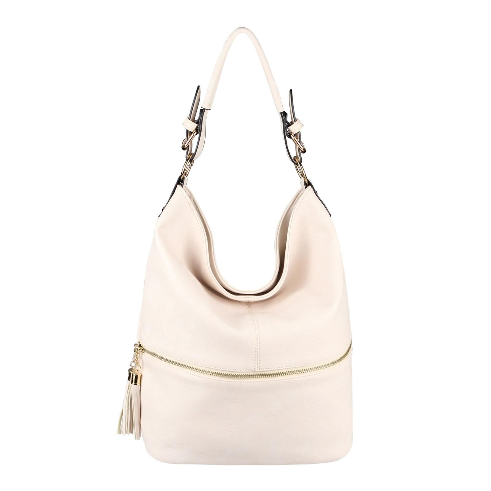 d191493743543 Damen Tasche Shopper Schultertasche Umhängetasche Handtasche Hobo-Bag  Beuteltasche Beige