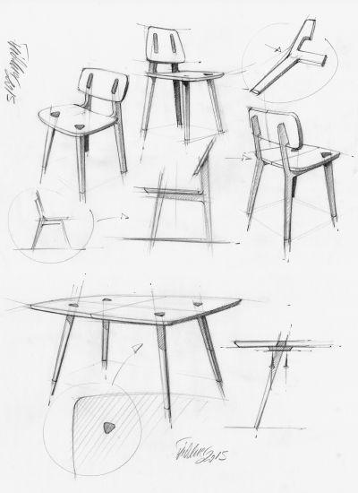 30+ Design Furniture Sketches Inspiration | Sketches, Industrial ...
