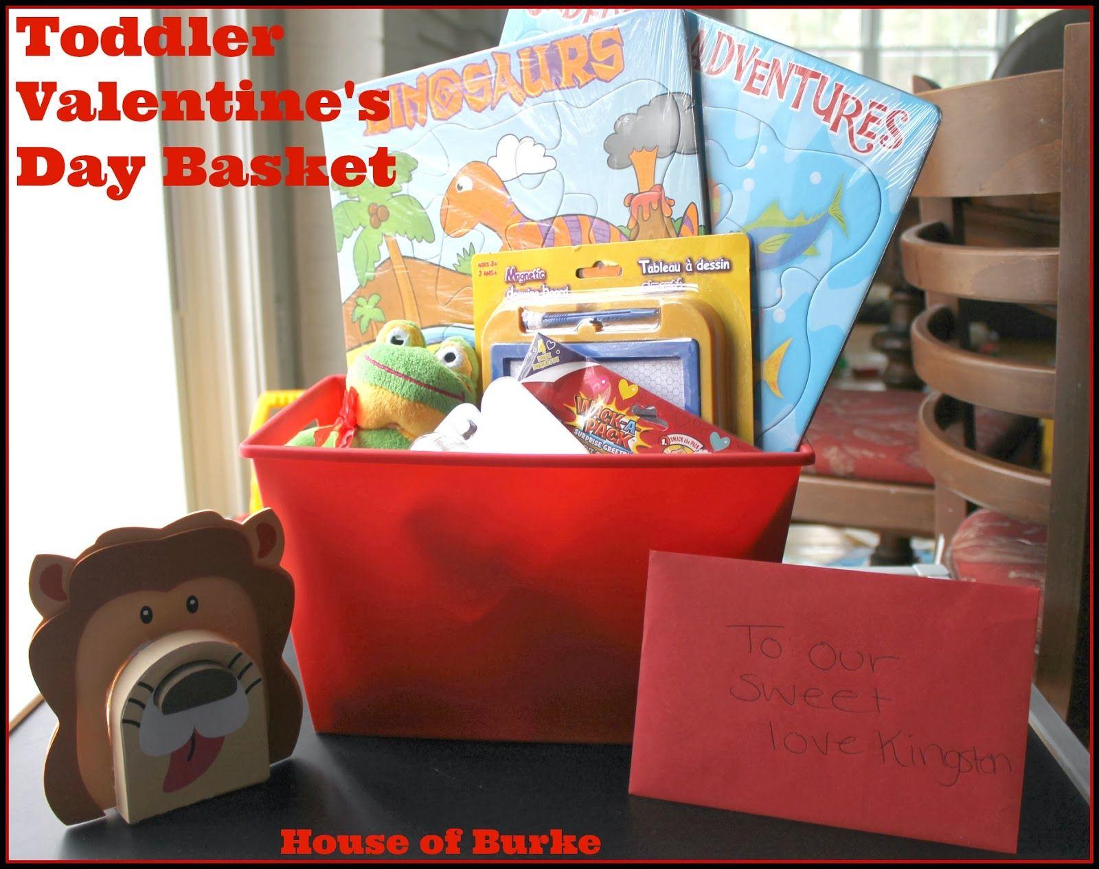 Toddler Valentine S Day Basket Showing Kids Love Toddler Valentines Valentines Day Baskets Toddler Valentine Gifts