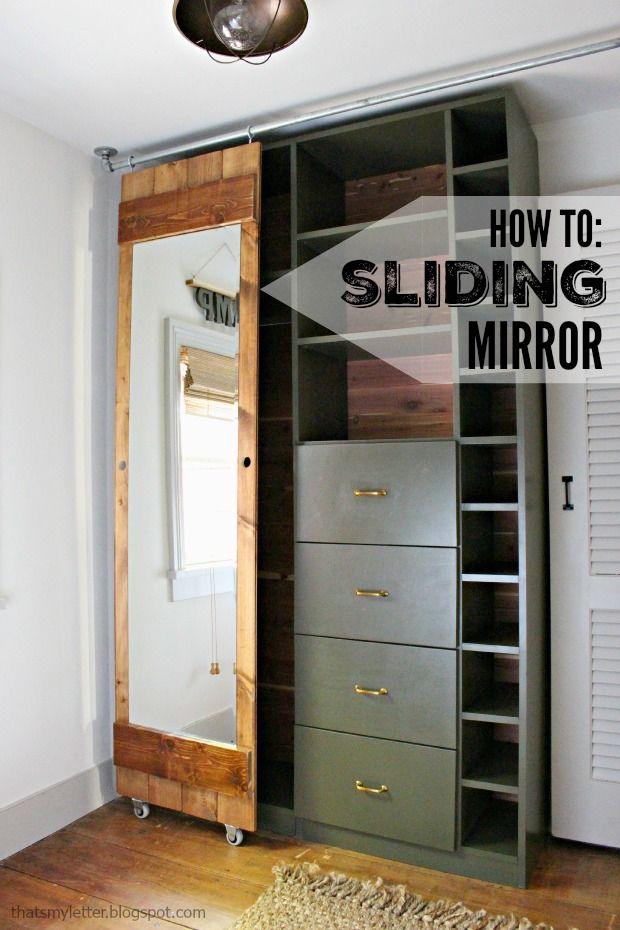 Diy Sliding Mirror Barn Door Closet Doors Doors Bedroom