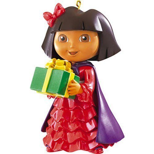 Dora the Explorer Christmas Ornament Dora with Gift For more