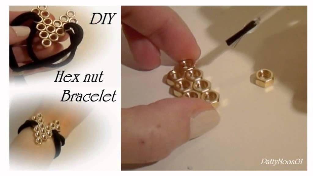 DIY Bracciale cuore con bulloni