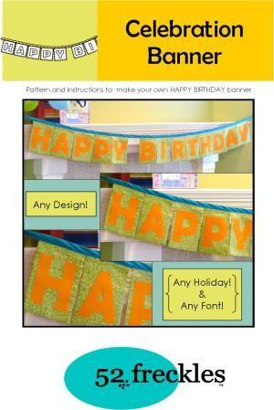 Birthday Celebration Banner | What's New | YouCanMakeThis.com