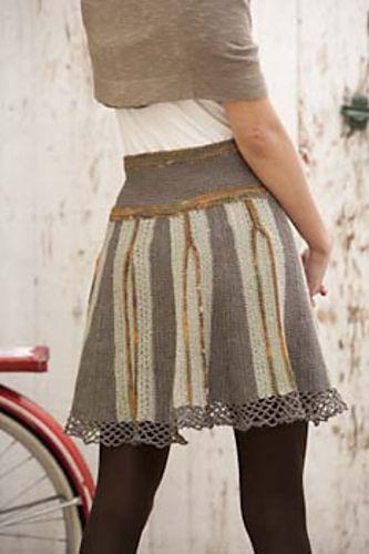 Pretty Pleats Skirt pattern by Annie Modesitt | Falda, Tejido y Dos ...