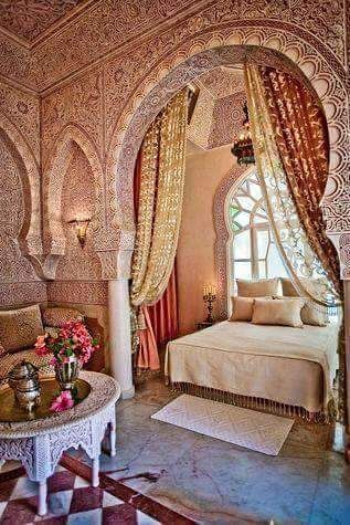 ديكور مغربي تقليدي Arabic Decor Oriental Interior Arabian Bedroom