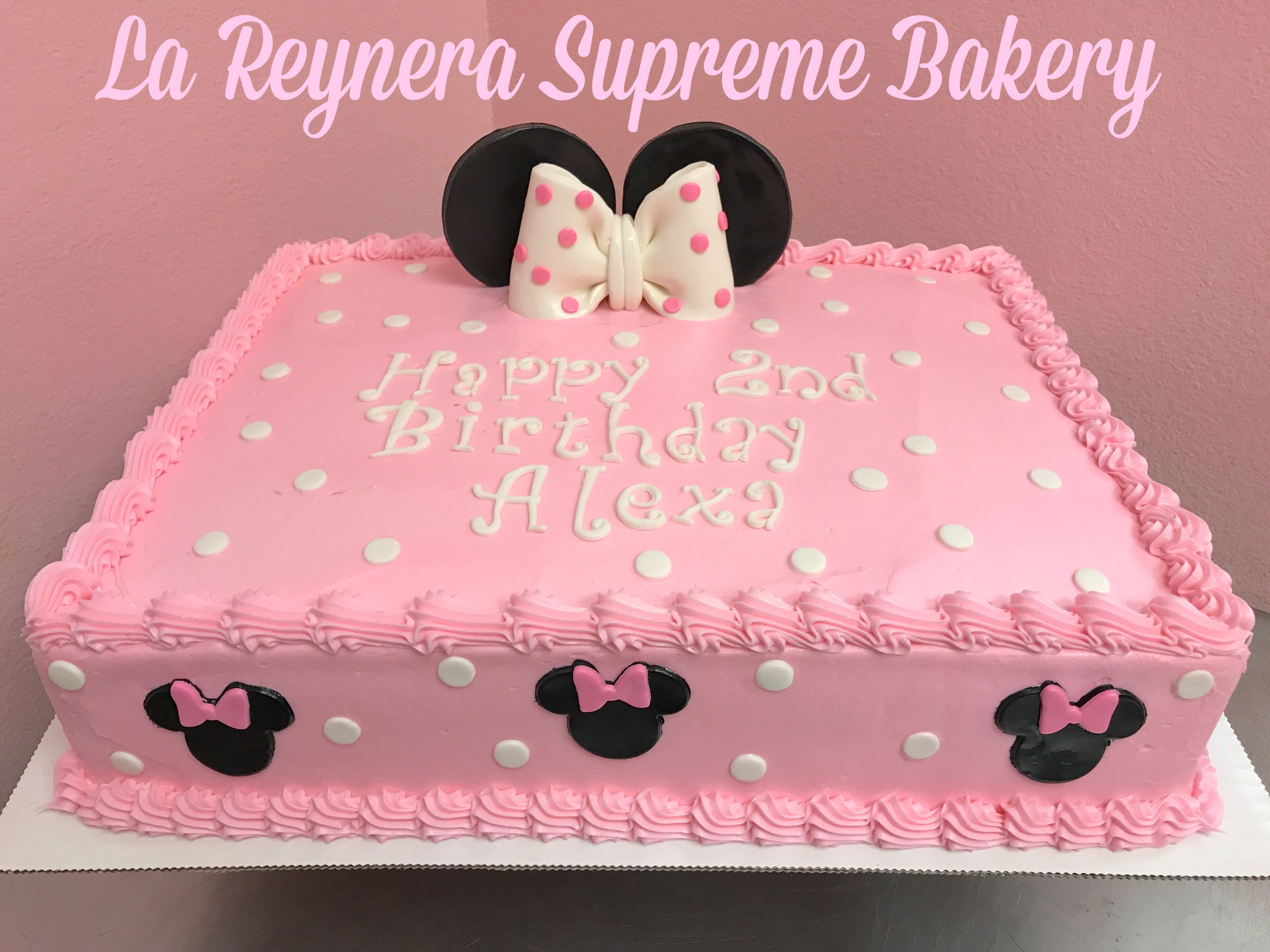 Brilliant Minnie Mouse Cake With Images Minnie Mouse Birthday Cakes Funny Birthday Cards Online Inifodamsfinfo