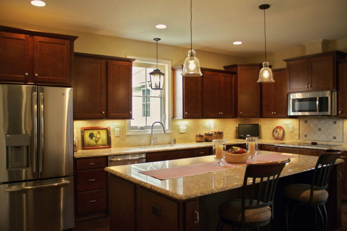 Kitchen Cabinets Homecrest Arbor Cherry Cinnamon Designed By Angela Raines At Our Gallery Kitchen And Bath Showroom Location Knoxville Tn