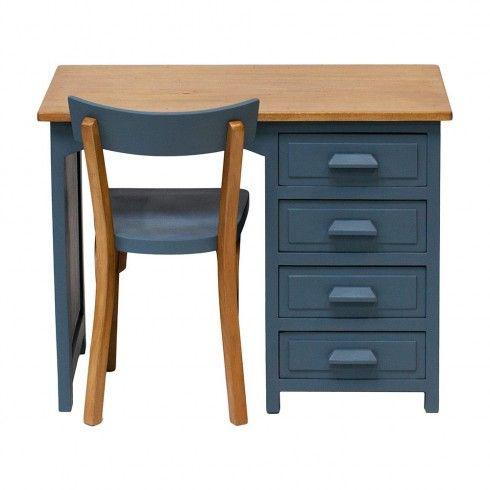 Bureau américain vintage \ - vernir un meuble peint