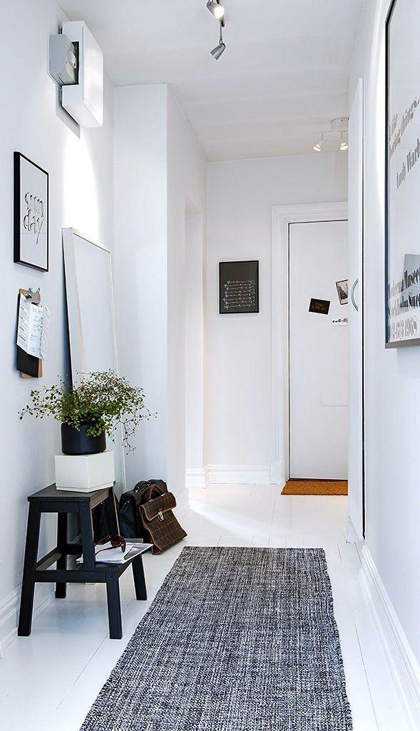 Un Tapis Chic Pour Une Entree Stylee Comment Decorer Un Couloir Entree Maison Salons Minimalistes