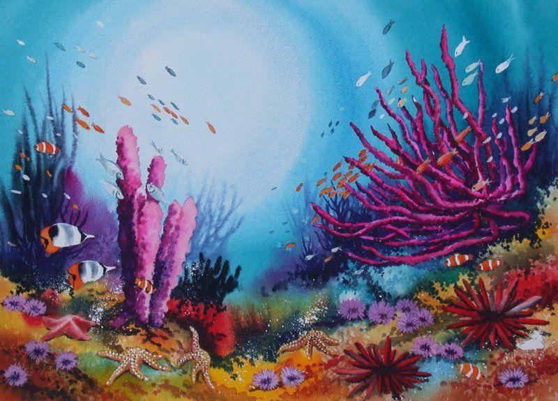 краски подводного мира картинки лучше сжимать