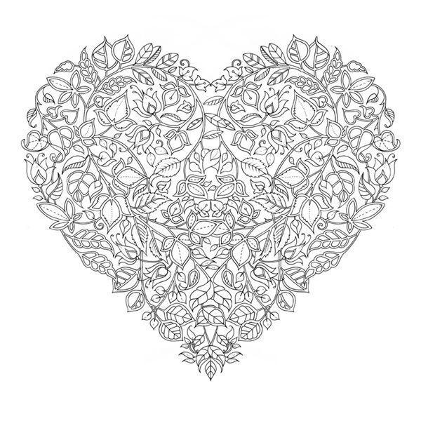 coloriage adulte coeur
