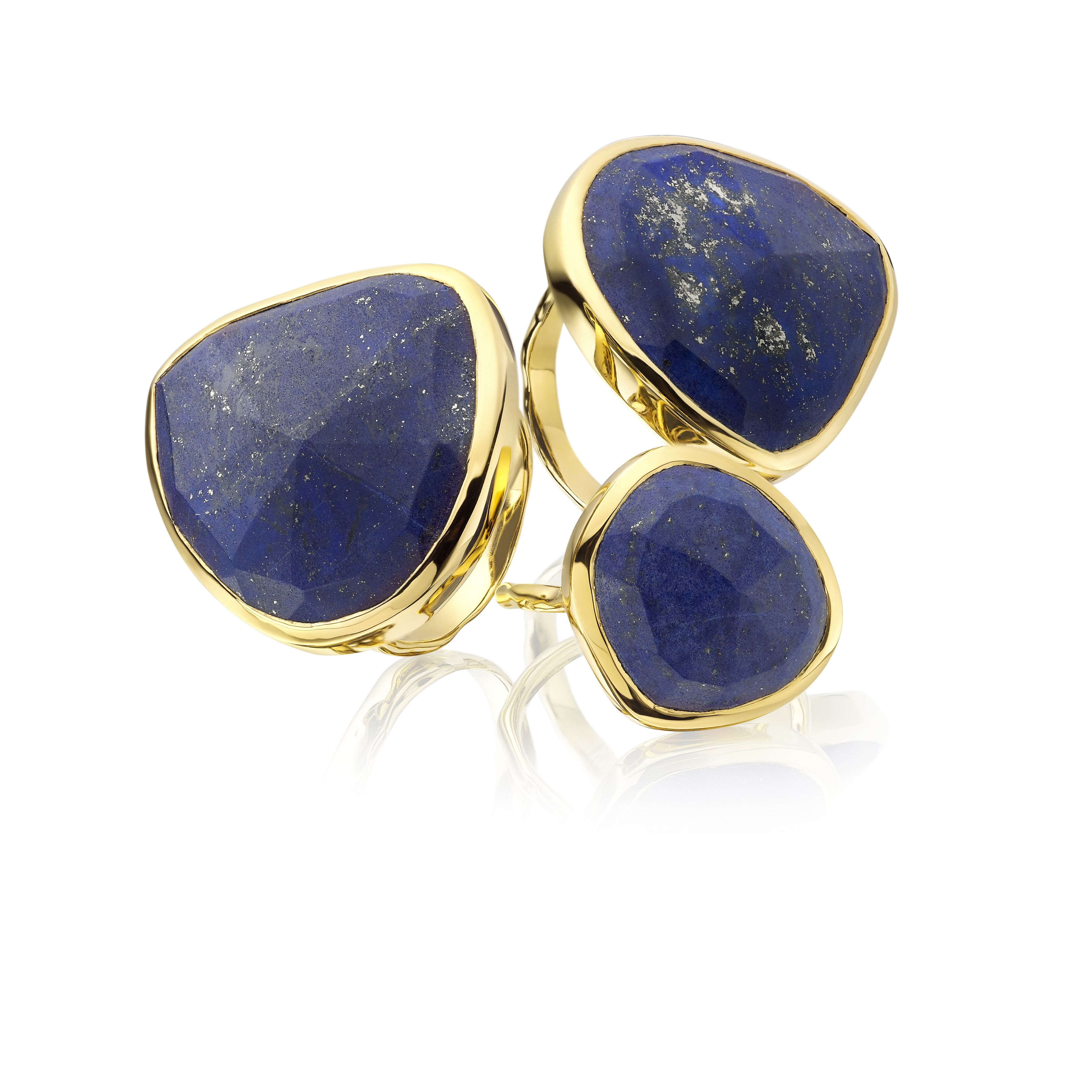 Siren Stacking Rings in #lapis #stackandshare