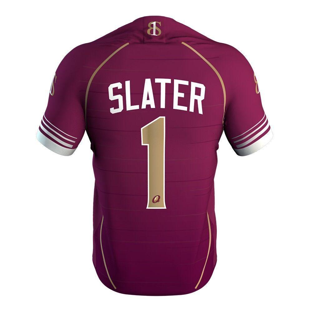 5bcb5b6e7df QUEENSLAND RUGBY LEAGUE TEAM Billy Slater #1# SHIRT JERSEY 2019 ...