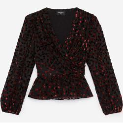 Photo of The Kooples – Rocky Velvet Top with Cherry Print – Men