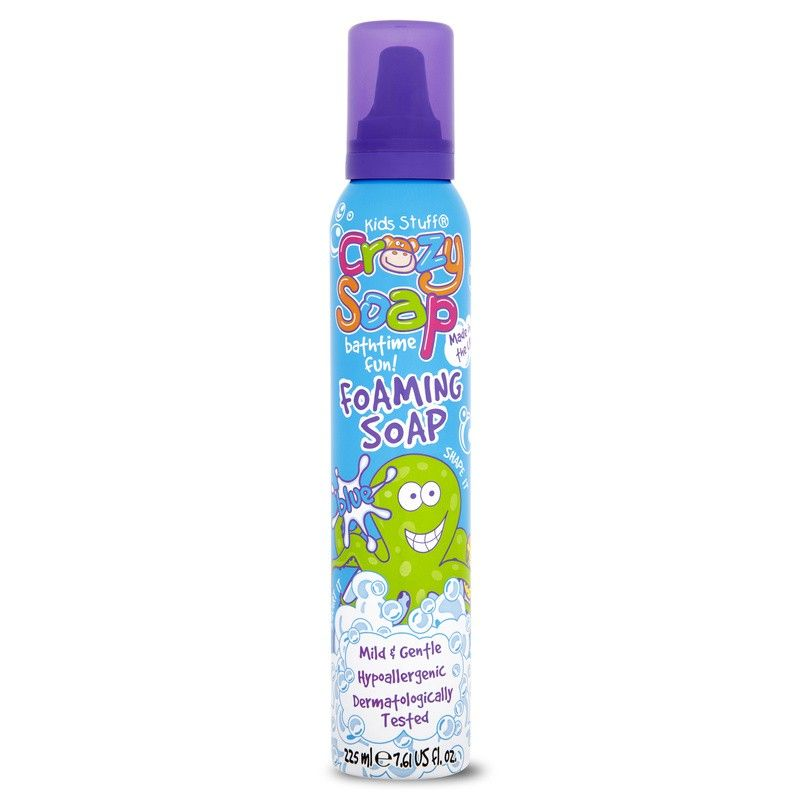 This can of Blue Crazy Foam Soap will make bath time lots of fun ...