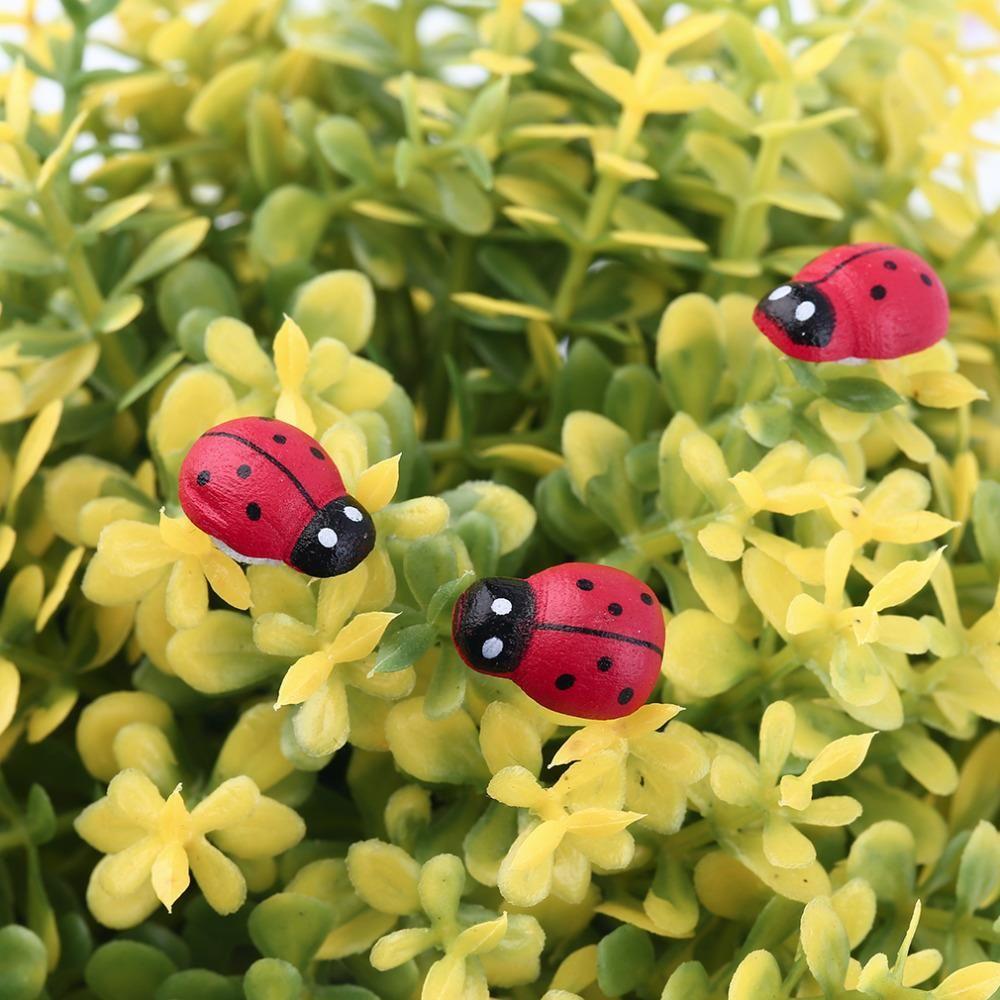 1.88 200Pcs Painted Ladybug Self Adhesive Wood Craft Fridge Paste ...
