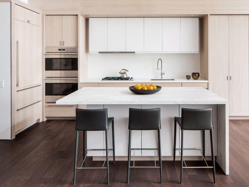 Island Seating Modern Kitchen Island Granite NYC Interior Design