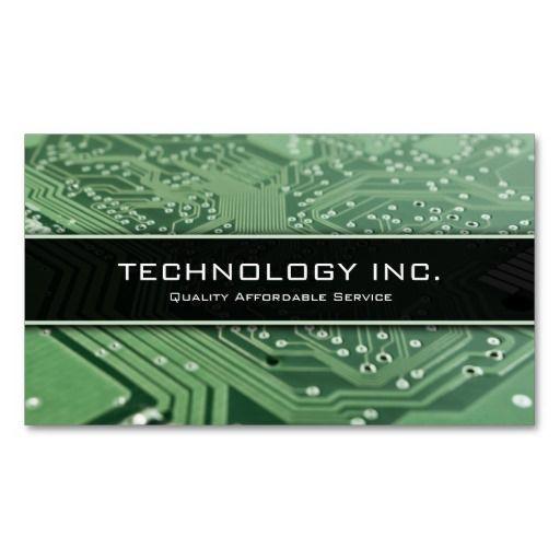 Information Technology It Services Business Card Zazzle Com Business Card Design Creative Business Card Inspiration Business Cards Creative