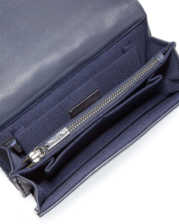 Be Beaded Camo Clutch Bag, Blue