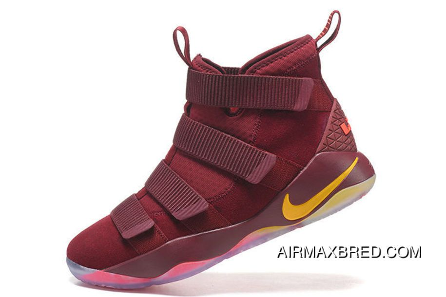 on sale 92c7e 829a5 Nike Lebron Soldier 11 Cavs Pe Free Shipping