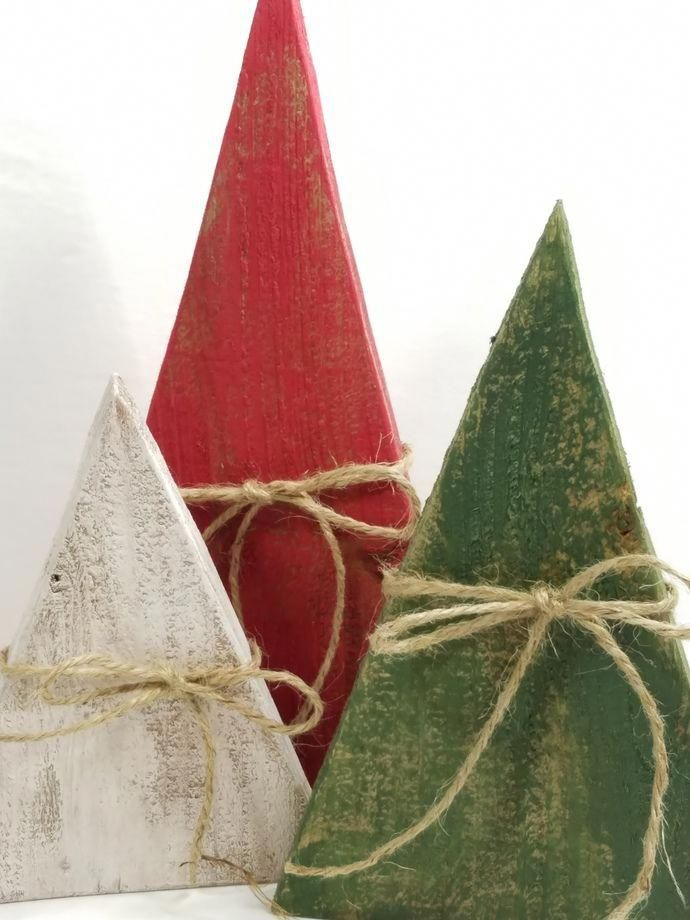 Handmade Primitive Trees, Rustic Holiday Decor, Wood Christmas Trees, Christmas Tree Decoration, Fall Decor