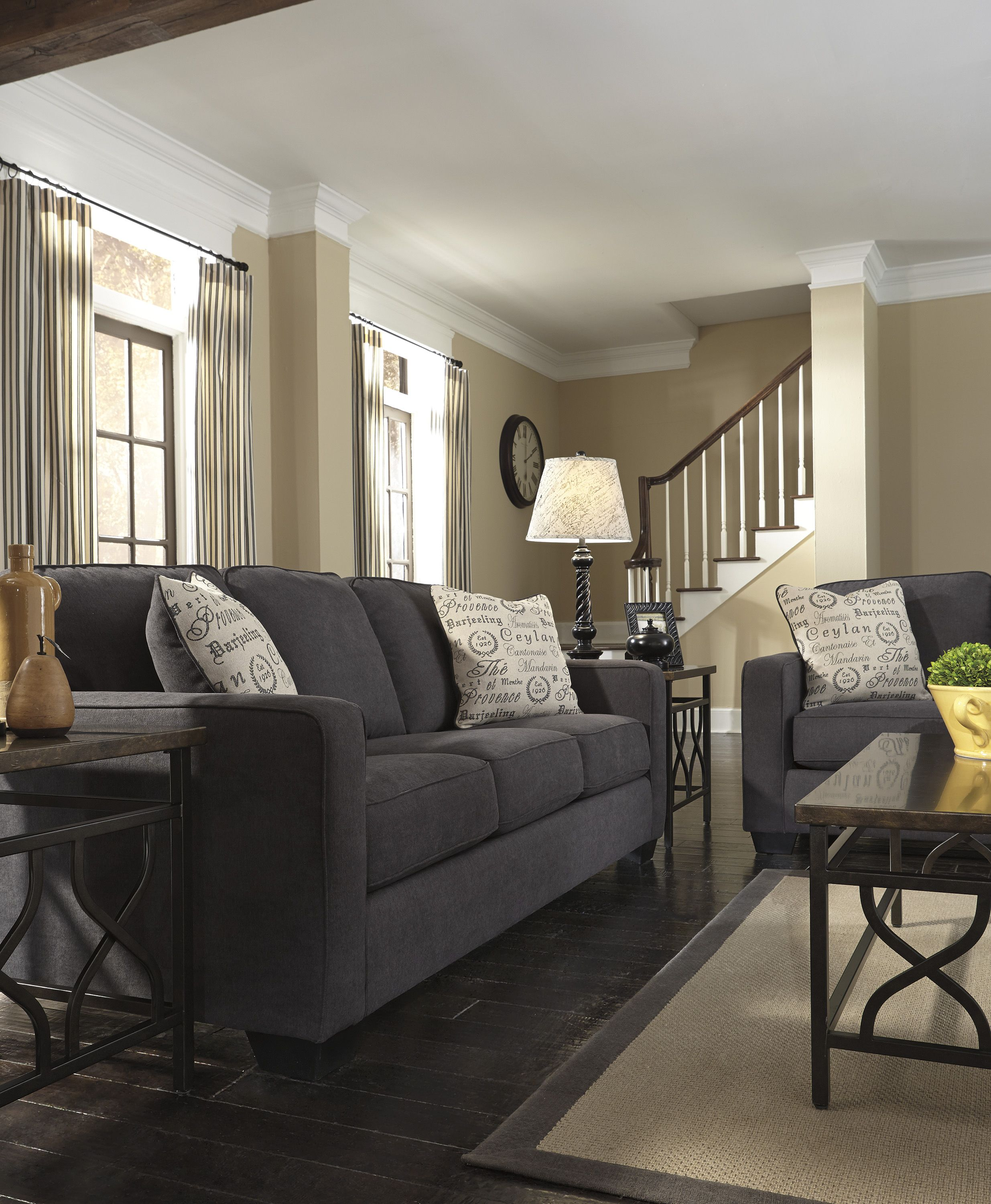 1000 Ideas About Charcoal Couch On Pinterest: #AlenyaCharcoal #LivingRoom