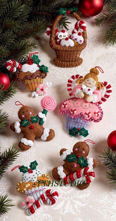 Bucilla Magdalena Angel ~ pce 6 Kit de adornos de Navidad #86242 - cosas de navidad