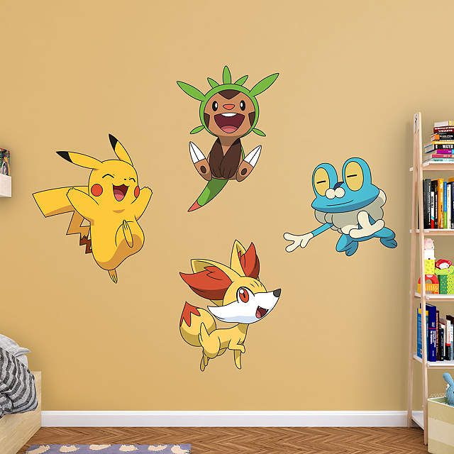 Fathead Pokemon Kalos First Partner Wall Decal Collection