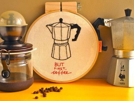 """Quadrinho bastidor """"Coffee"""" - FofysFactory"""