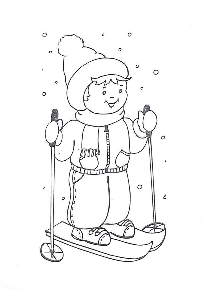 šablona na lyžaře | vorlagen | Pinterest | Ausmalbilder, Skifahrer ...