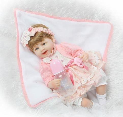 boneca reborn bebe reborn alice realista linda dentinhos  6b0a236fe00
