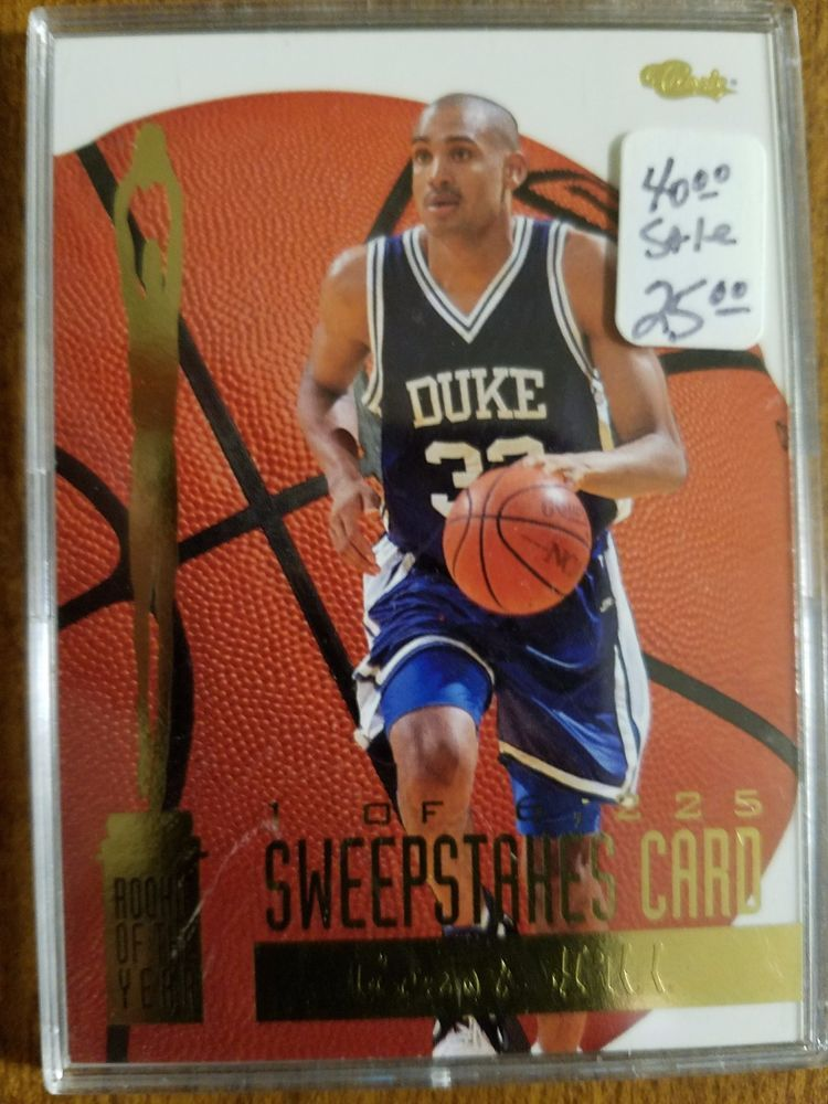 1994 Grant Hill Rookie Of The Year Basketball Trading Card Encased