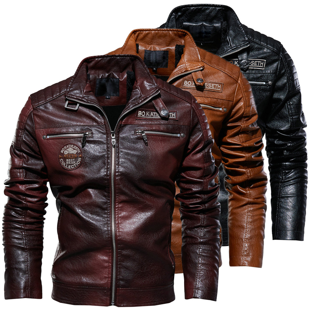 Bosswears Men S Modern Tough Guy Plus Velvet Leather 217 Business Casual Jacket Mens Jackets Casual Real Leather Jacket