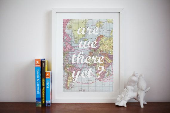 World Map Poster Wanderlust Map of the World by oflifeandlemons