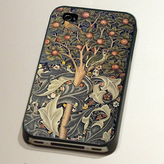 iPhone Case 4 and 4s  Woodpecker Tapestry by by TheArtNouveauShop, $24.95