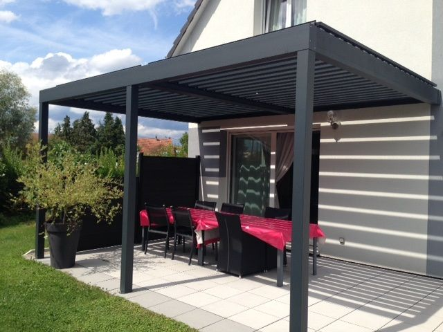 pergola bioclimatique 6x3 gris 7016 usine online pergola bioclimatique pinterest pergola. Black Bedroom Furniture Sets. Home Design Ideas