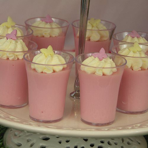 Pink Blancmange Fairy Party Food