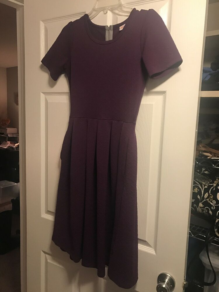 eb292503 LuLaRoe Amelia S Solid Deep Purple EXCELLENT CONDITION UNICORN!! #fashion # clothing #shoes #accessories #womensclothing #dresses (ebay link)