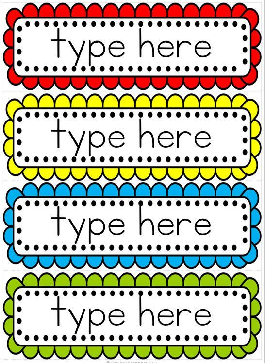 Editable word wall templates FREE to download Fabulous and Free - free label templates for word