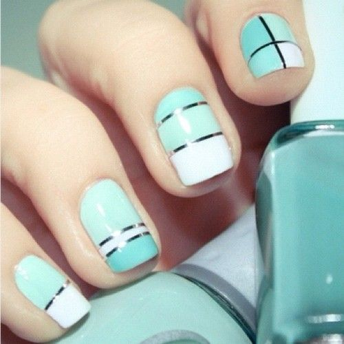 Trendy tuesday color blocking color block nails spring colors making this trend tough as nails colorblocking prinsesfo Image collections