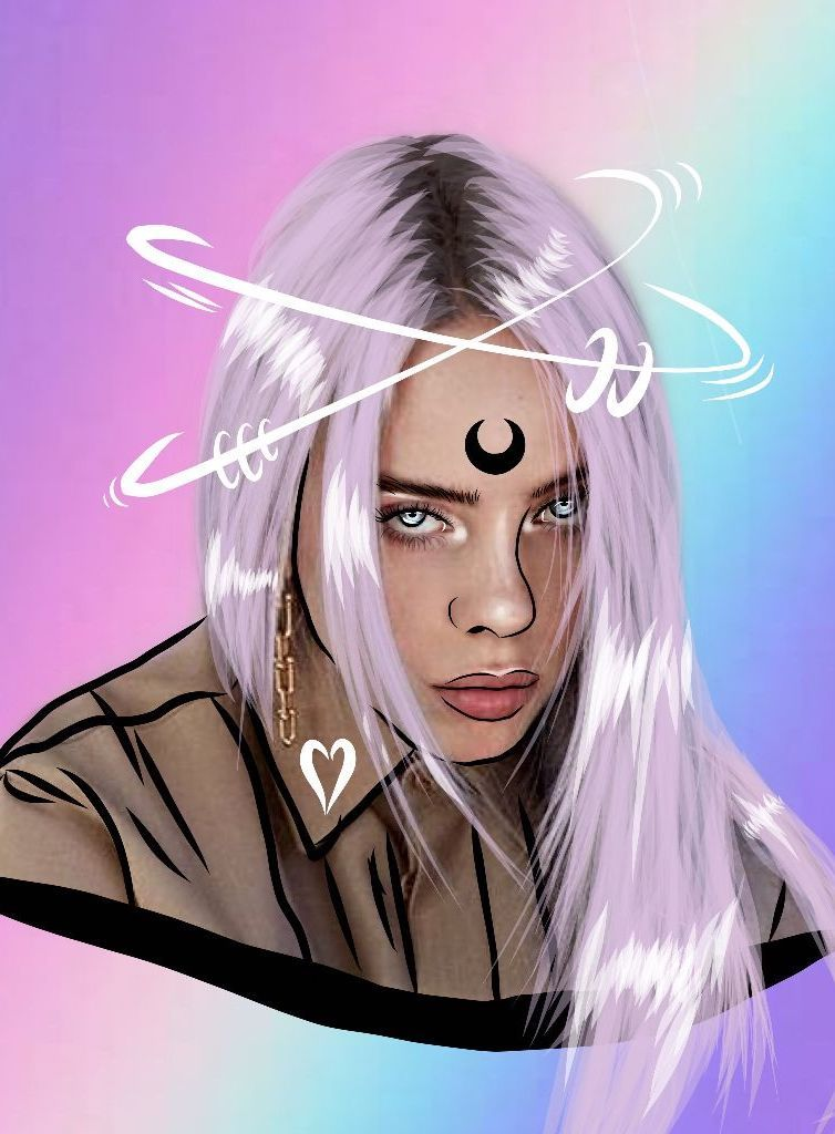 LOVELY 😍 Tap the link for more #BillieEilish #PicsArt fan art!   Edit by @hc0utlines #MadeWithPicsArt
