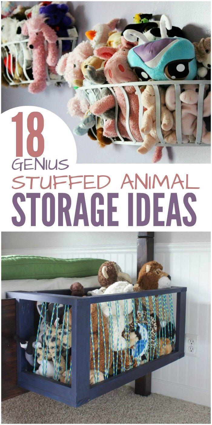 18 Genius Stuffed Animal Storage Ideas   Pinterest   Storage ideas ...
