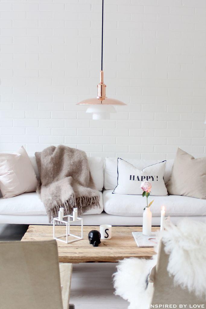 Un coin salon cosy avec laredoute coins salon et for Decoration epuree salon