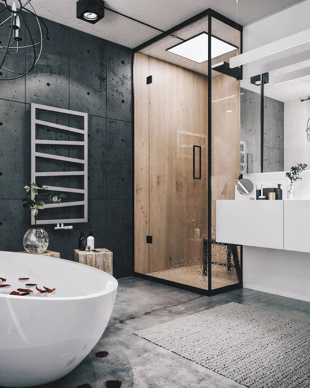 Who Would Live Here Let Us Know In The Comments Below Modern Loft Designed B Loft Interior Design Industrial Bathroom Design Industrial Bathroom Decor Latest style bathroom below