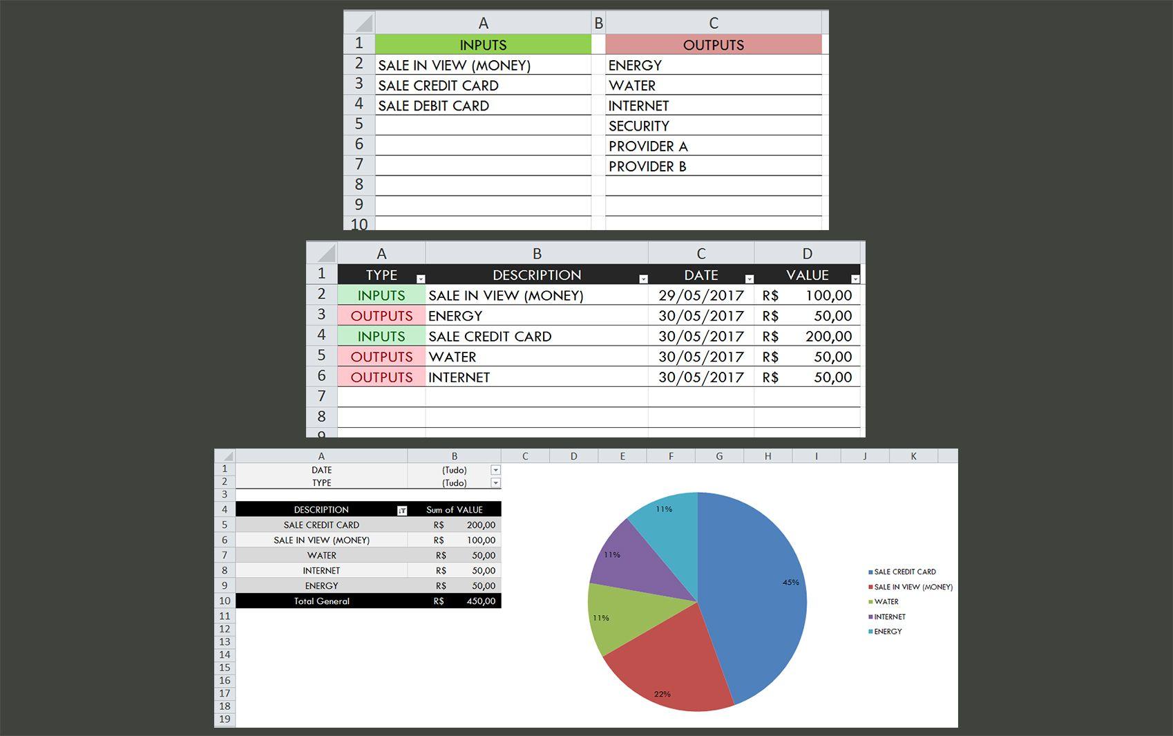 Simplified Cash Flow Excel Model