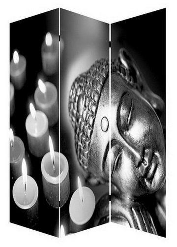 kamerscherm boeddha met 7 led verlichting