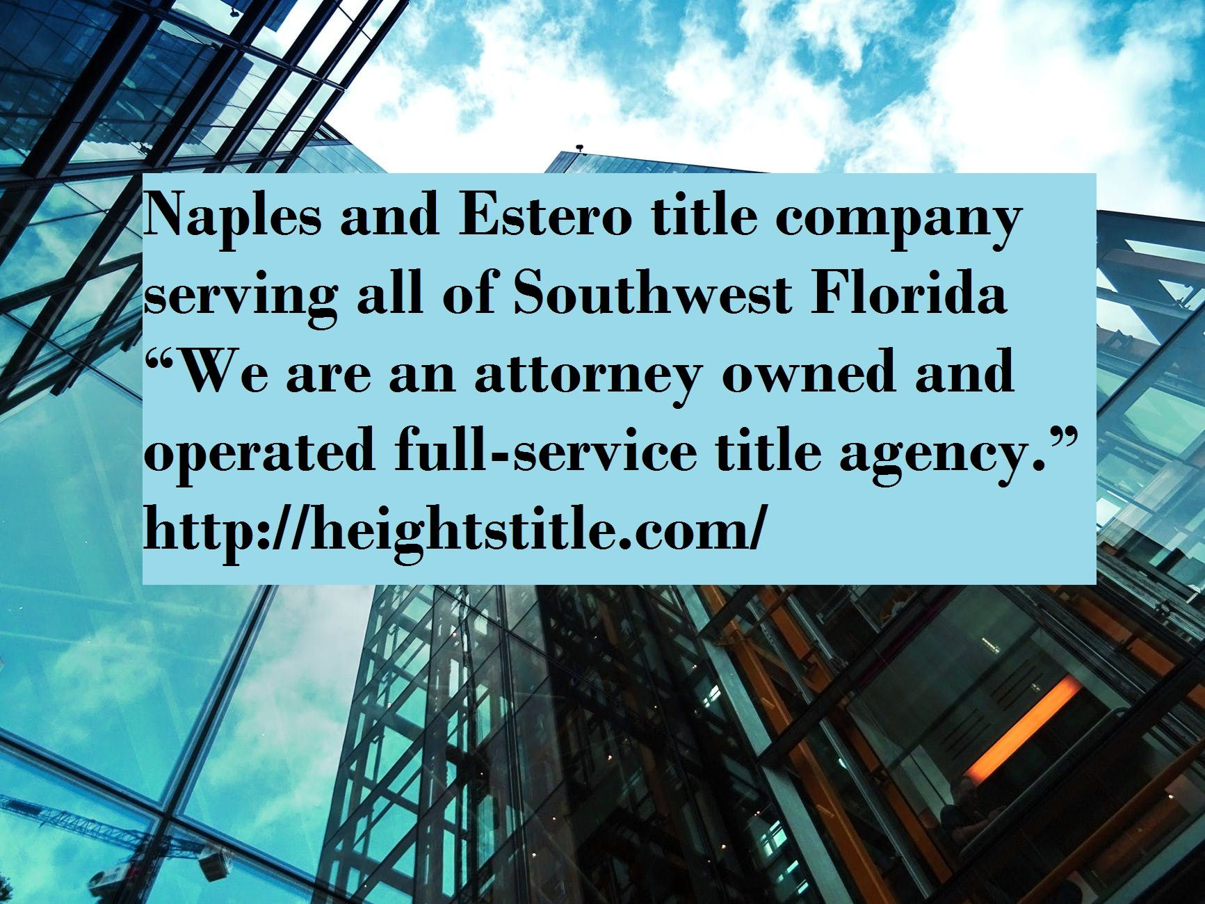 Naples Title Company Aim Is To Southwest Florida With Excellence
