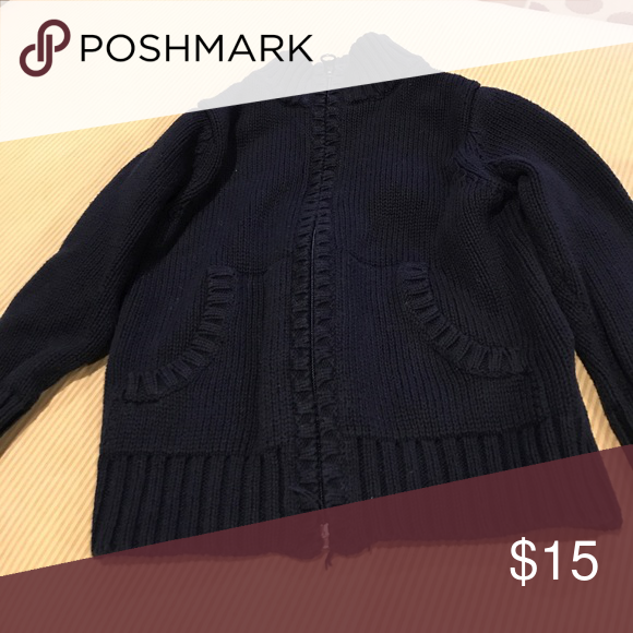 EUC zip up Old Navy sweater 18-24 | Navy sweaters and Navy